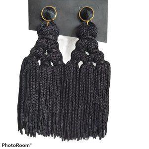 Baublebar large tassel drop chandelier earrings